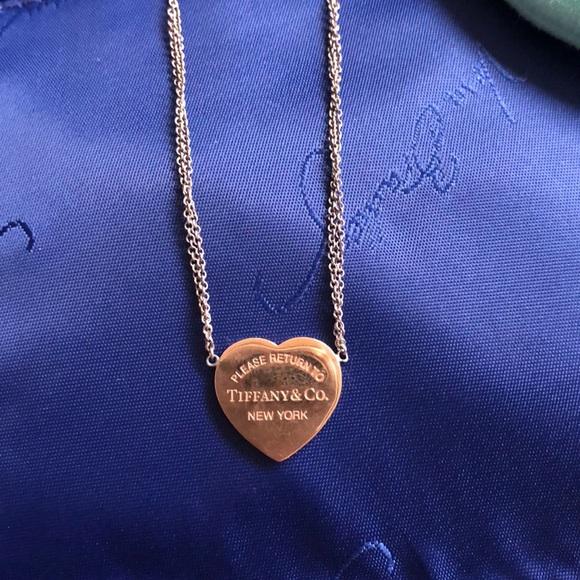 Tiffany Co Jewelry Tiffany Rubedo Heart Tag Necklace Poshmark